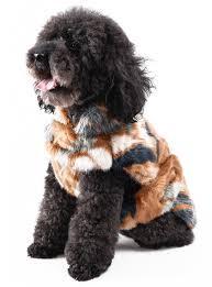 dog winter coat dog clothes cold weather jacket dog vest super soft japanese kanekalon fiber faux fur warm apparel 13 colors by lindsey home fashion
