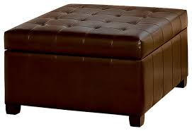 Beautiful Ottoman With Storage Lyncorn Leather Storage Ottoman Coffee Table  Contemporary