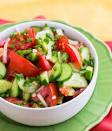 Салат из огурцов и перца с майонезом