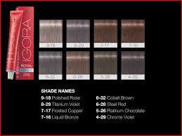 Igora Colour Chart Right Schwarzkopf Igora Royal Colour Shade Chart Igora Royal