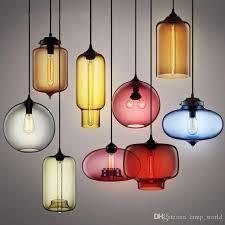 modern art glass chandelier ceiling lamp pendant lights glass lampshade loft pendant lamps e27 85v 265v lighting fixture contemporary pendant lighting