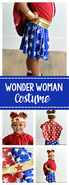 Wonder Woman Costume Pattern Classy Wonder Woman Costume Pattern For Kids Crazy Little Projects
