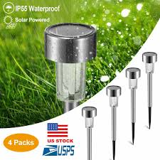 48 In Solar White Plastic Driveway Marker Path Light 24packs Outdoor Stainless Steel Led Solar Power Light Lawn Garden Landscape Path