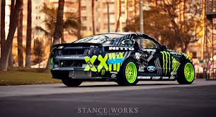 Nitto Tire Monster Energy Ford Mustang Rtr Vaughn Gittin Jr
