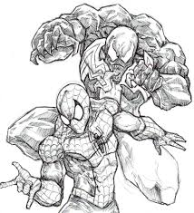 Venom And Spider Man By Covens