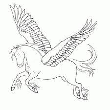 Paard Met Vleugels Kleurplaat Kleurplaat Voor Kinderen