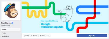 mailchimp s cover photo effectively uses the 820 pixels by 312 pixels dimensions to highlight a