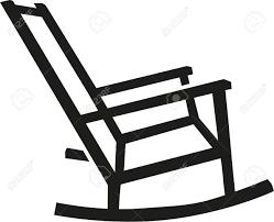 rocking chair silhouette. Rocking Chair Silhouette O