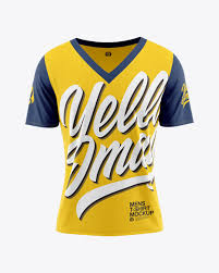 ✓ free for commercial use ✓ high quality images. Men S Loose Fit V Neck T Shirt Mockup In Apparel Mockups On Yellow Images Object Mockups