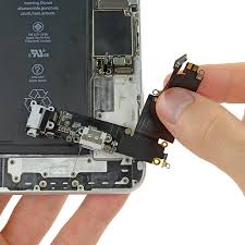 the charging port is called a lightning connector and is responsible for charging your phone and syncing with a computer it is a part of the whole flex