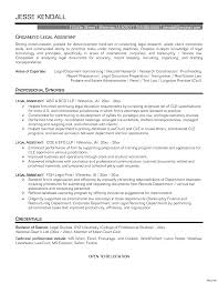 Legal Assistant Resume Sample No Experience Secretary Cover Letter