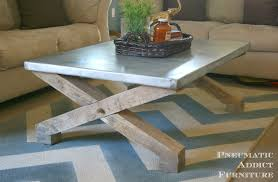images zinc table top: pneumatic addict zinc top coffee table tutorial pottery barn knock off