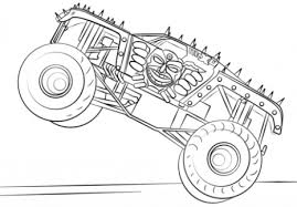 Max D Monster Truck Coloring Page Free Printable At Just Coloring
