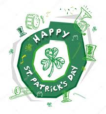 St Patrick S Day Designs Happy St Patricks Day Design Concept With Outline Art Of