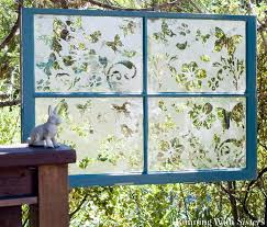 How To Etch Glass The Butterfly Effect How To Etch A Garden Window Running With