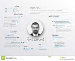 Original Resume Template Original Cv Resume Template Stock Vector Illustration Of 3