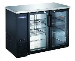 2 glass door 48 back bar refrigerator