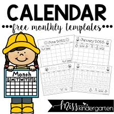 Download this annual blank calendar template for 2021 in a landscape format document. Free Calendar Templates 2021 2022 And 2023 Miss Kindergarten