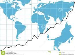 Global Chart Global Bull Market Chart Stocks World Growth Graph Stock