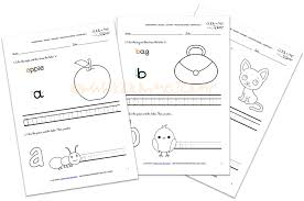 Alphabet writing worksheets for ESL, Kindergarten