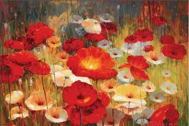 hot famous oil painting flower meadow poppies i by shirley novak painting canvas high quality hand painted modern art in painting calligraphy from