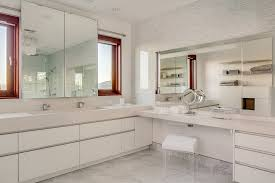 Innovative lucite dining chairs in Bathroom Transitional with