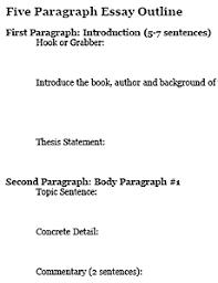 7 Paragraph Essay Outline Five Paragraph Essay Outline Freeology