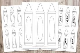 By best coloring pagesjune 27th 2016. Free Printable Crayon Templates The Artisan Life