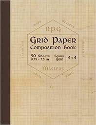Rpg Grid Paper Composition Book Blank Quad Ruled Graph Paper For