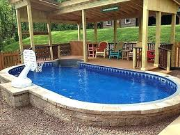above ground swimming pool ideas. Above Ground Pool Inground Semi Swimming Designs Best Pools Ideas On Deck Fire Pit Near And