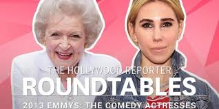 kristen bell betty white and more comedy actresses at the roundtable