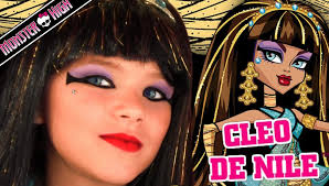 monster high makeup videos cleo de nile monster high doll costume makeup tutorial for