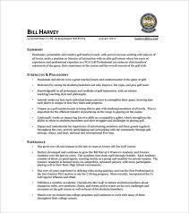 Best Golf Caddy Resume PDF Free Template