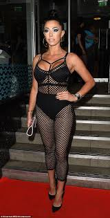 Lizzie Cundy flashes bra in sheer dress at Asian Awards Daily.