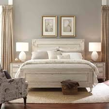 wood panel bed. Southbury Wood Panel Bed In Parchment
