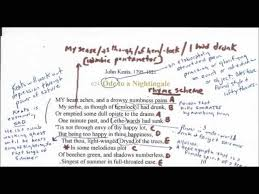 ode to a nightingale by keats lessons teach ode to a nightingale by john keats a reading annotation and analysis pt