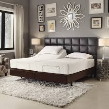 bed frame with light brown and grey bedroom walls 1500 x 1500