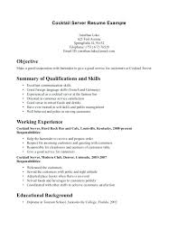 Waitress Skills For Resume Resume Waitress Skills Socialum Co