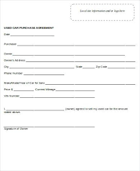 Form Car Purchase Template How To Buy A Through Your