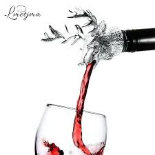 unique wine stoppers stainless steel deer stag head bottle aerators bar tools most