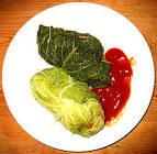 macedonian stuffed cabbage with thick avgolemono