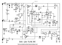 guitar effects schematics projects dod wah filter 545
