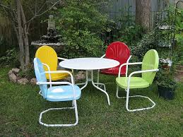 yellow patio furniture. 11.metal Outdoor Tables Wrought Iron Patio Chairs Chair Yellow Vase Flower Trees Furniture N