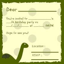 B Day Invitation Cards Dinosaur Birthday Invitation Cards
