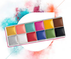 the make up for ever flash palette will give you rainbow look