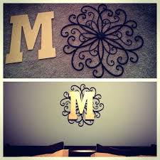 initial wall decorations initial wall decor metal hanging from hobby lobby spray paint letter monogram monogram