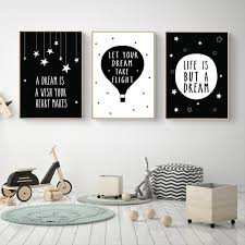 cartoon motivational quote posters and prints black white canvas art painting wall art pictures baby kids on canvas black and white wall art with cartoon motivational quote posters and prints black white canvas art