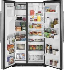Refrigerator Options Ge Czs22mskss 36 Inch Counter Depth Side By Side Refrigerator With