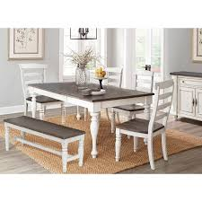 french country white two tone 6 piece