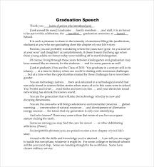 Template For A Speech Sample Ceremonial Speech Example Template 8 Free